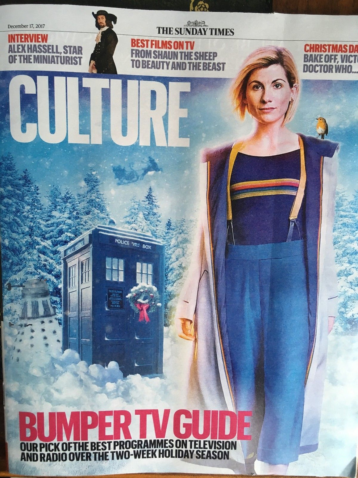 UK Culture Magazine 17 December 2017 Jodie Whittaker Alex Hassell Sergei Polunin