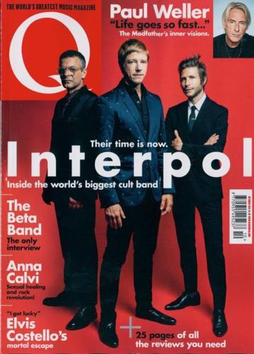 UK Q magazine October 2018 INTERPOL Paul Weller ANNA CALVI The Beta Band