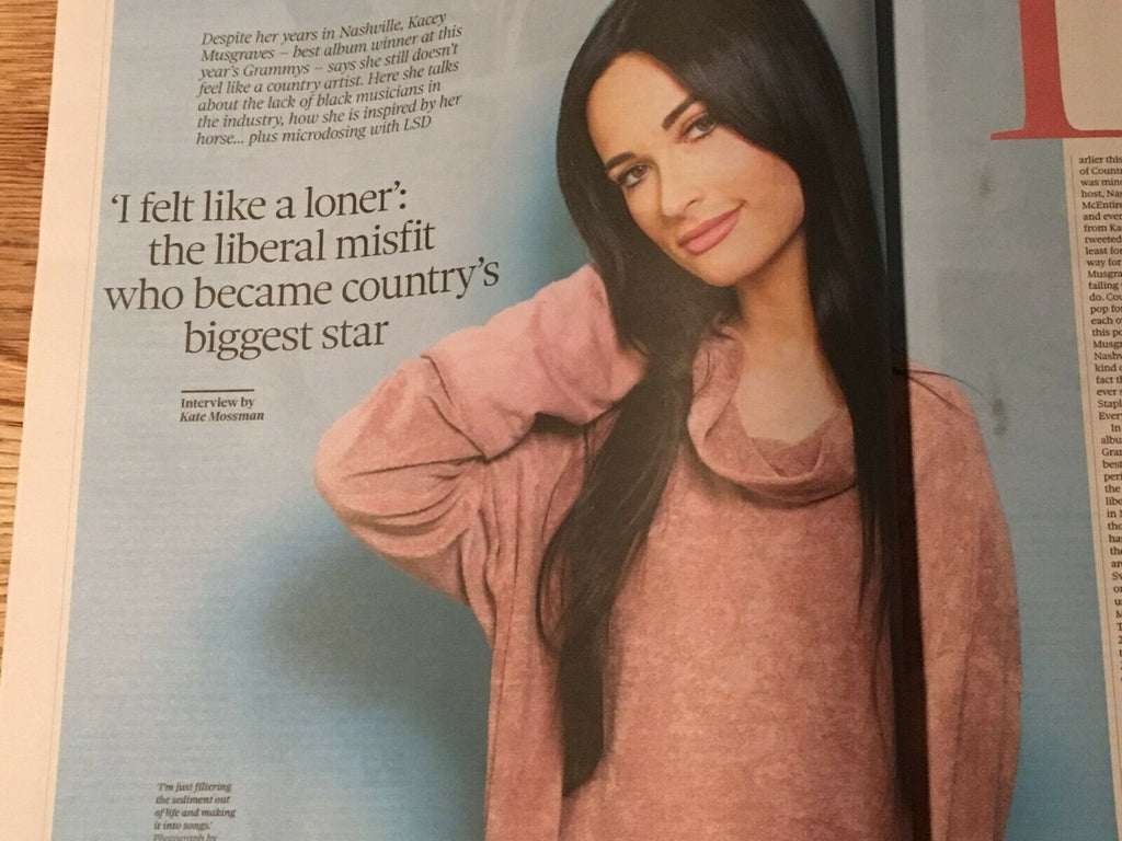 UK OBSERVER REVIEW April 2019: KACEY MUSGRAVES Maggie Smith ROBERT CARO