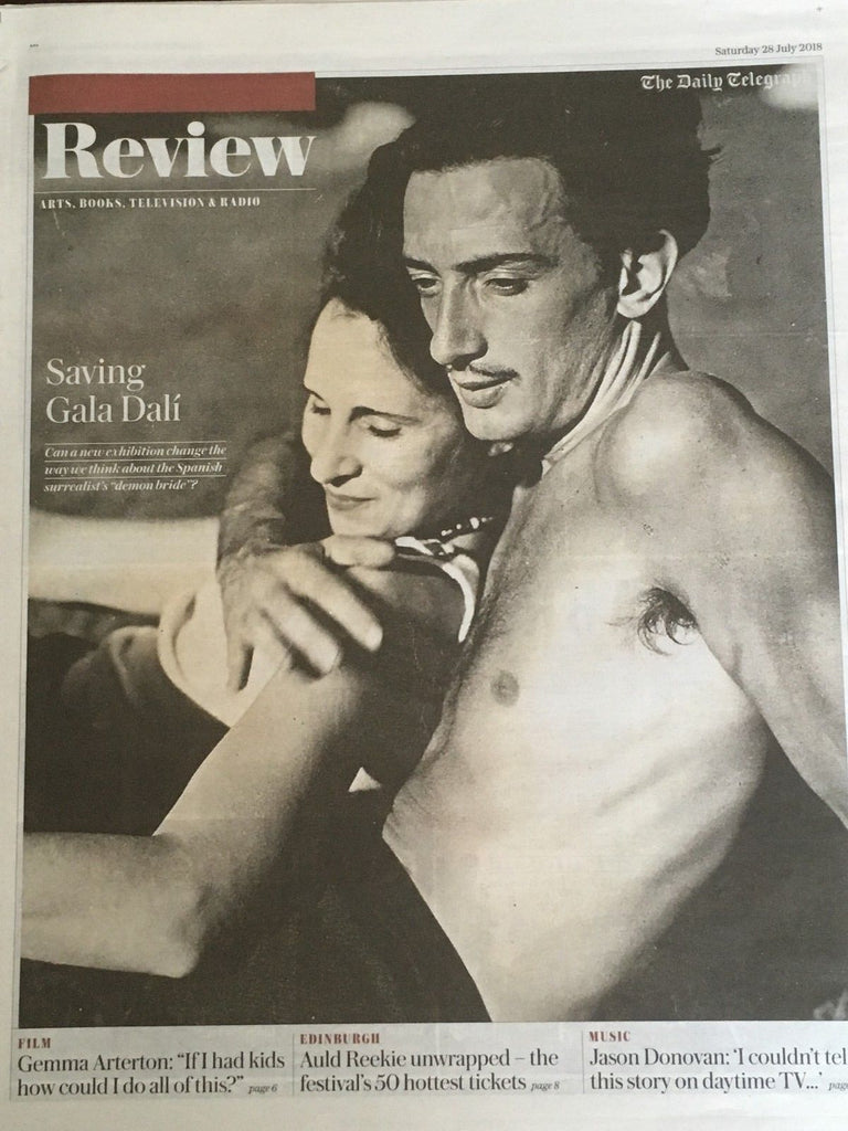 UK TELEGRAPH REVIEW July 2018: SALVADOR DALI COVER STORY (Jason Donovan)
