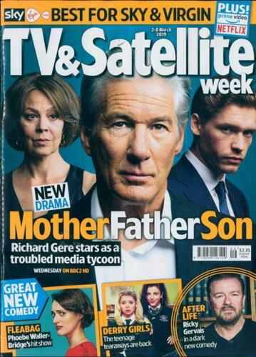 TV & Satellite Magazine March 2019: RICHARD GERE Helen McCrory BILLY HOWLE