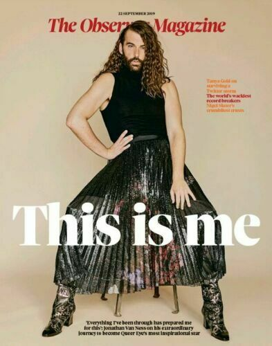 OBSERVER magazine 22 September 2019 Jonathan Van Ness cover and interview