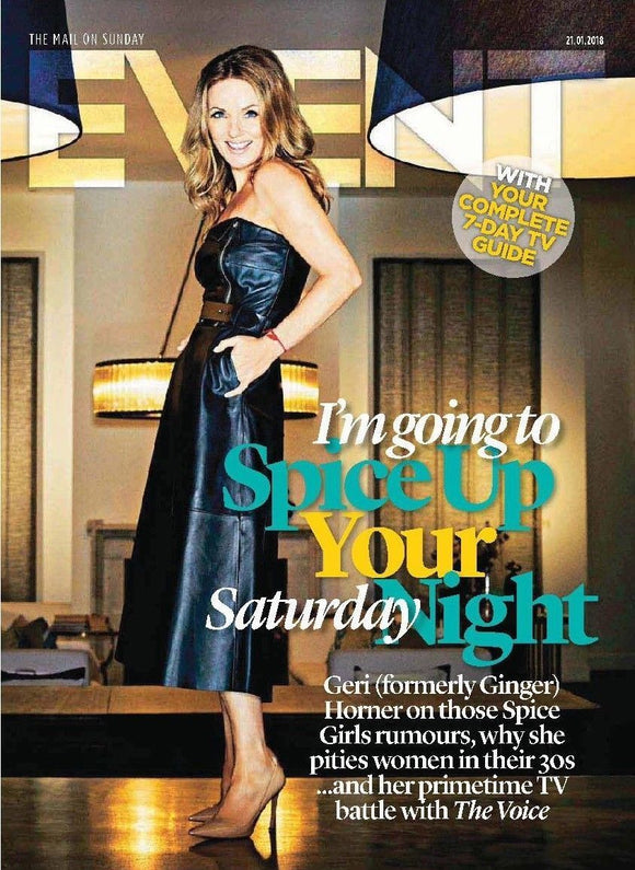 Event Magazine January 2018 Spice Girls GERI HORNER COVER STORY Asa Butterfield