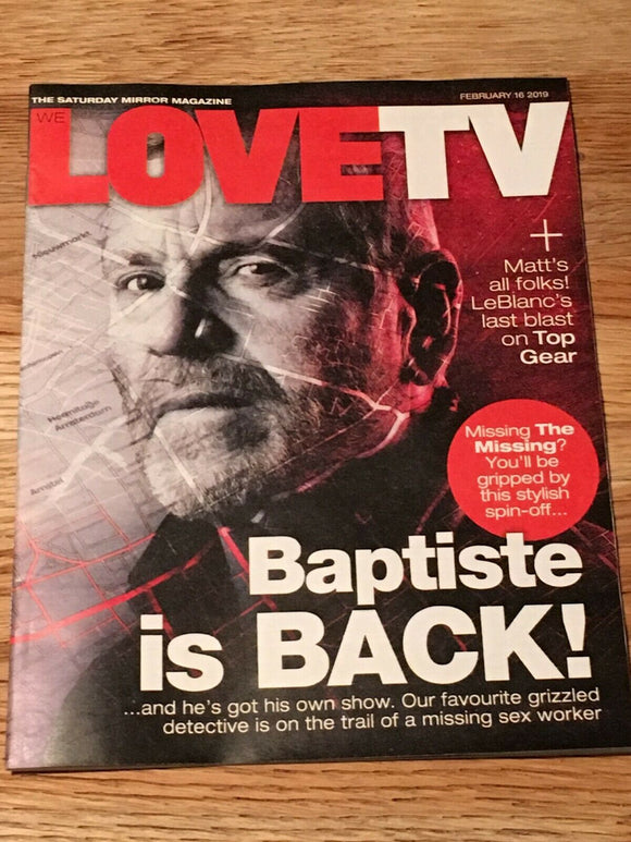 LOVE TV Magazine 02/2019: BAPTISTE Tcheky Karyo MATT LEBLANC Luke Treadaway