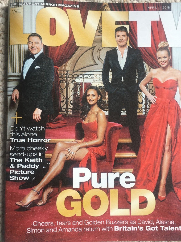 Love TV Magazine 2018 AMANDA HOLDEN Alesha Dixon LUKE EVANS Sarah-Jane Crawford