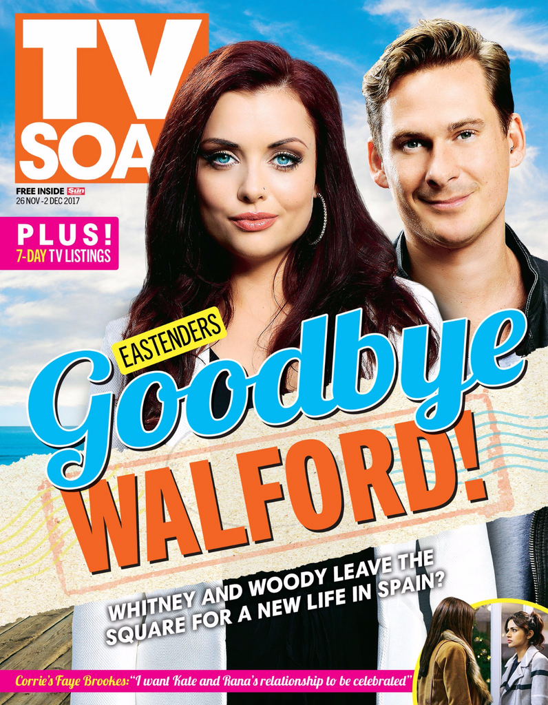 TV Soap Magazine November 2017 Shona McGarty Lee Ryan Faye Brookes