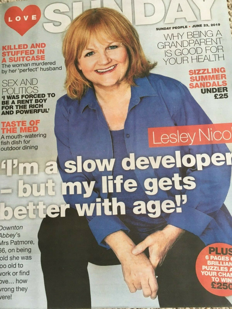 Downton Abbey LESLEY NICOL PHOTO COVER UK LOVE SUNDAY MAGAZINE JUNE 2019