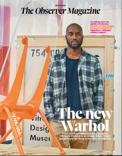 UK Observer Magazine June 2019 VIRGIL ABLOH Cover & Interview - Lily Allen