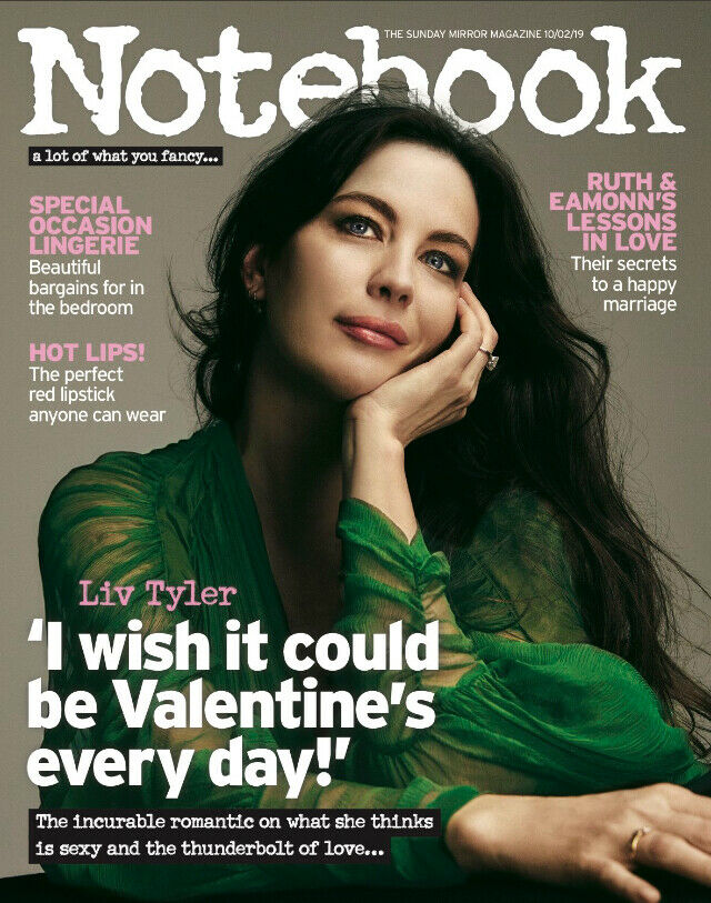 UK NOTEBOOK Magazine FEB 2018: Harlows LIV TYLER PHOTO COVER STORY