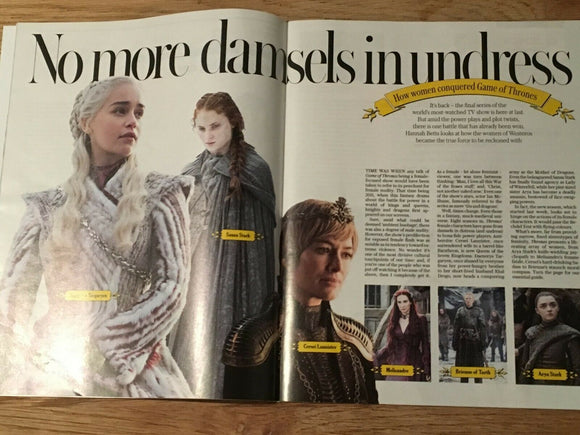 UK STELLA Magazine April 2019: LENA HEADEY Carice Van Houten SOPHIE TURNER GoT
