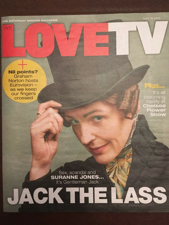 Love TV MAGAZINE 18 May 2019 Suranne Jones Gentlemen Jack Toby Stephens