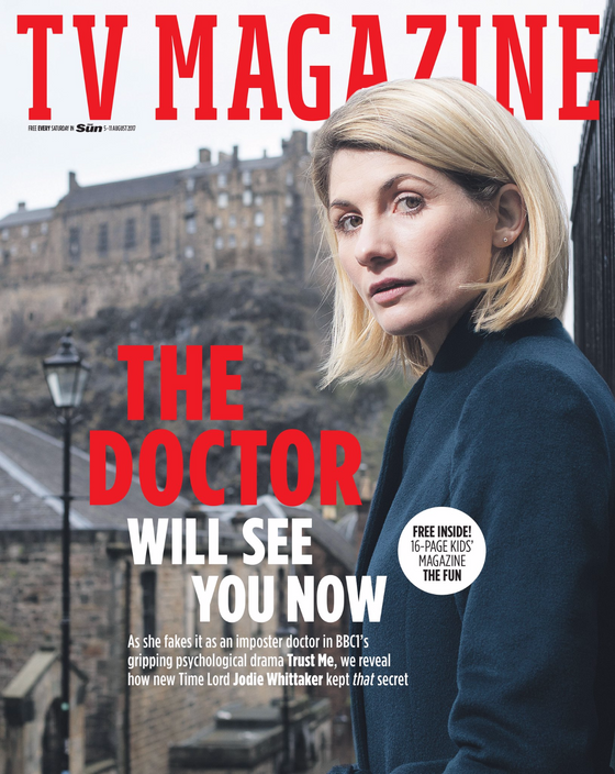 UK Sun TV Magazine 5th August 2017 Jodie Whittaker Doctor Who Bonnie Langford