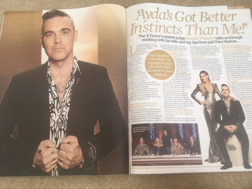 UK TV Life Magazine 2 September 2018: Robbie Williams Alex Jones Seema Jaswal