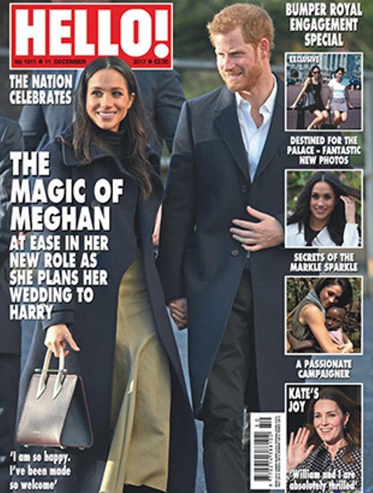HELLO! magazine 11 December 2017 Prince Harry and Meghan Markle Elaine Paige