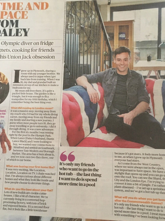Sunday Times Home Supplement April 2018 - TOM DALEY PHOTO INTERVIEW
