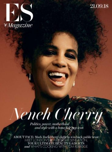 UK LONDON ES magazine 21 Sept 2018: NENEH CHERRY Photo Cover Interview