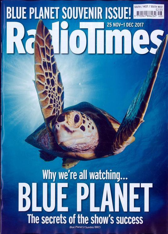 Radio Times Magazine 25 November 2017 Blue Planet Souvenir Issue Julie Walters