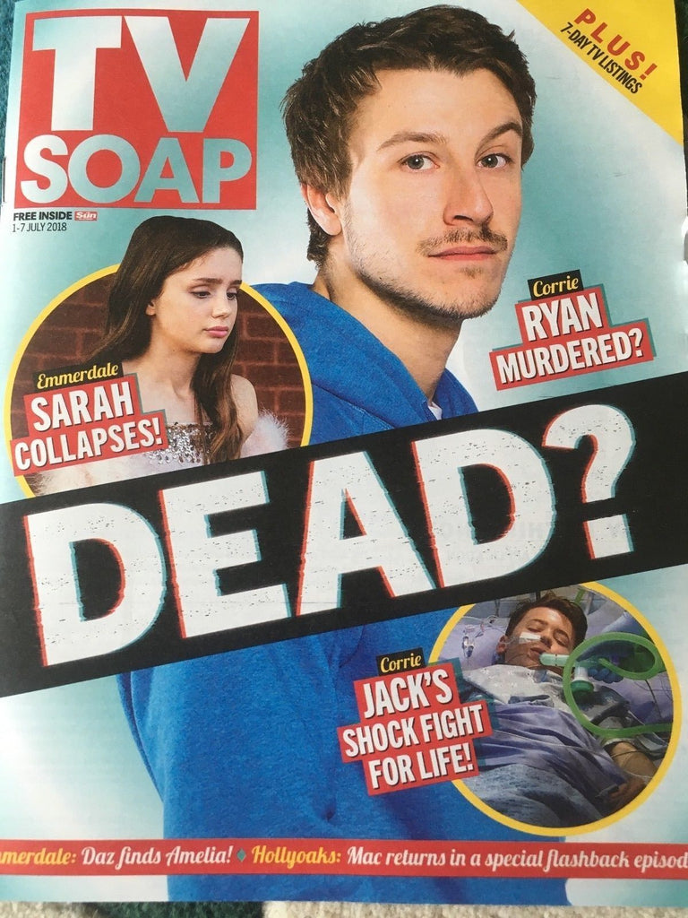 TV Soap Magazine July 2018: SOL HERAS Tina O'Brien MATTHEW WOLFENDEN