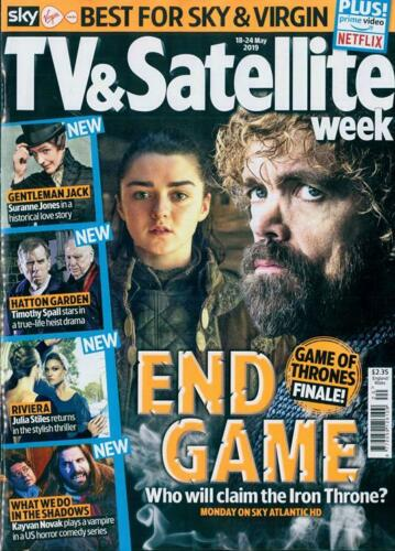 TV & SATELLITE Magazine May 2019: PETER DINKLAGE Maisie Williams Game Of Thrones