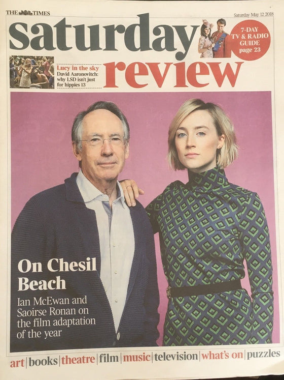 UK Times Review May 2018: SAOIRSE RONAN & IAN McEWAN COVER & FEATURE