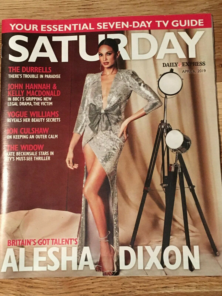 UK Saturday April 2019: ALESHA DIXON The Zombies Camilla Arfwedson Keeley Hawes
