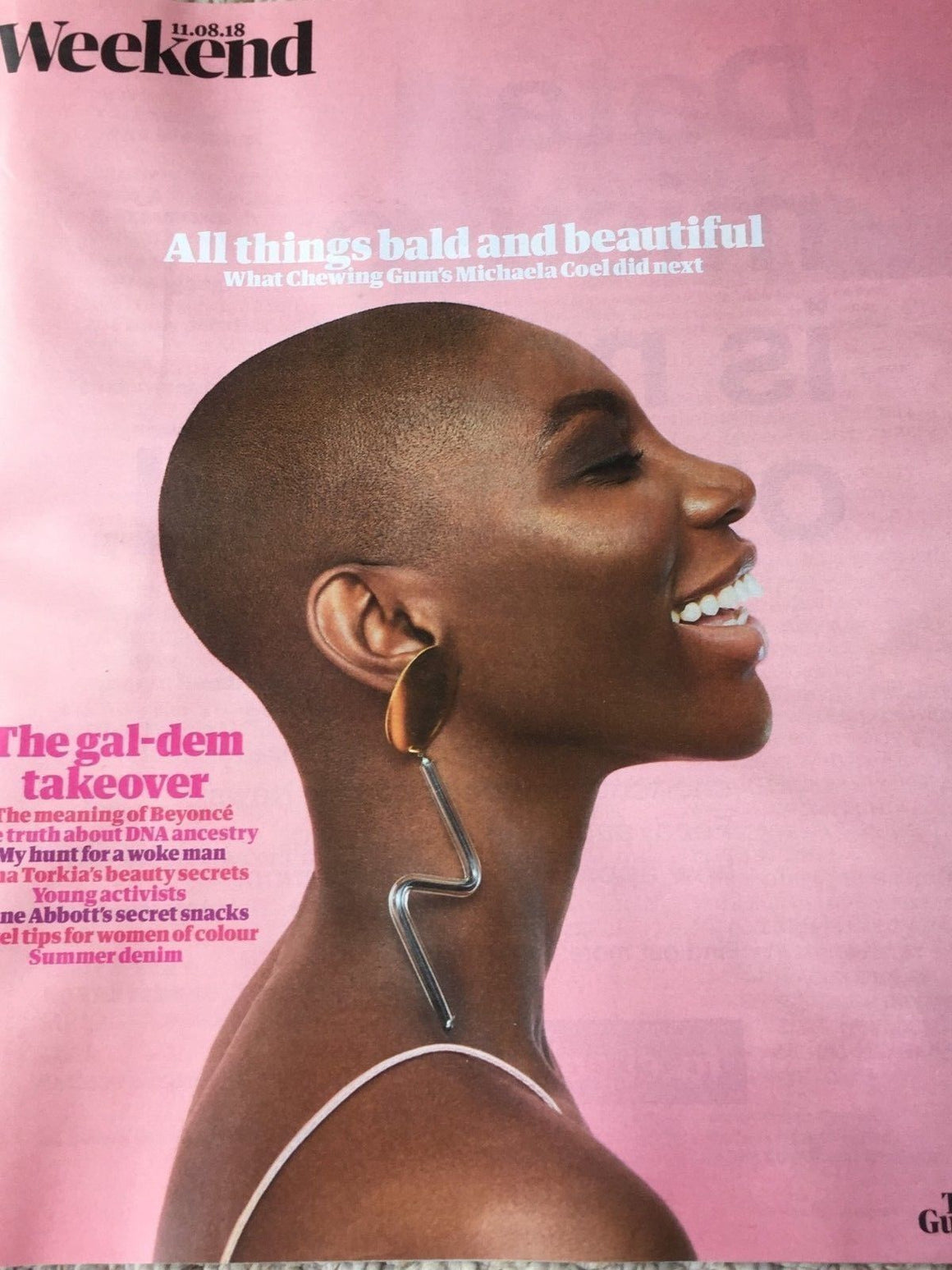 UK Guardian Weekend August 2018: Gal-Dem Take Over! MICHAELA COEL Gemma Chan