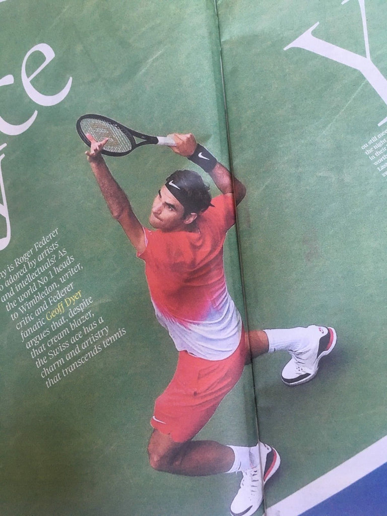 UK Observer Review JUNE 2018: ROGER FEDERER Elvis Presley DAVID BYRNE The King
