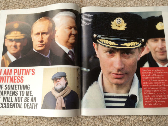UK Times Magazine August 2018: VITALY MANSKY on VLADIMIR PUTIN (Paapa Essiedu)