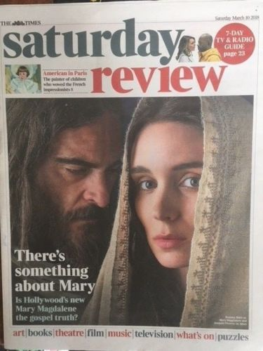 UK TIMES REVIEW MARCH 2018 ~ JOAQUIN PHOENIX & ROONEY MARA COVER STORY