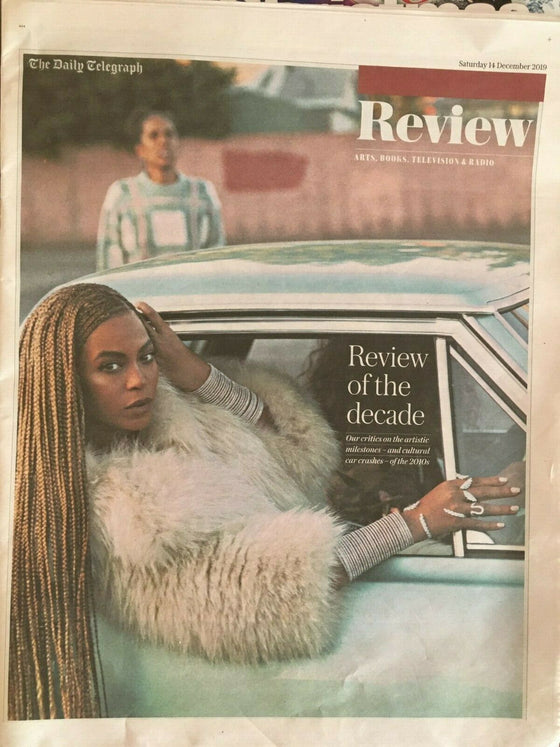 UK Telegraph Review 14 Dec 2019: BEYONCE KNOWLES COVER