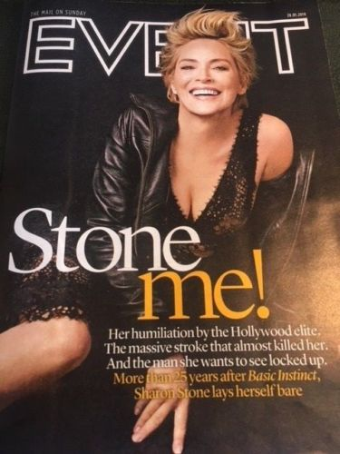 UK Event Magazine Jan 2018: SHARON STONE Photo Cover Interview - Colin Firth