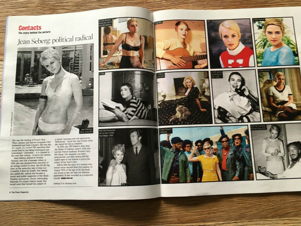 UK Times Magazine 11 January 2020: JEAN SEBERG Diana Ross KATE BUSH Prince BOWIE