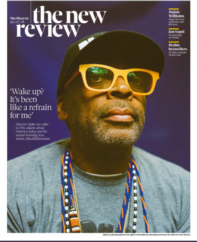 UK OBSERVER REVIEW July 2018: SPIKE LEE (BlackKlansman) Maisie Williams Iggy Popotebook Magazine 29 July 2018: Robson Green Jack Farthing Heida Reed