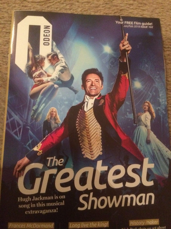UK Odeon Magazine January 2018 Hugh Jackman - The Greatest Showman Cover