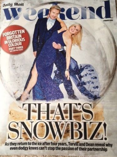 UK Weekend Magazine MARCH 2018: TORVILL & DEAN Jennifer Lawrence FIONA WADE Brand New