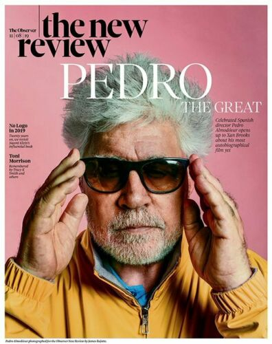 UK Observer Review August 2019: PEDRO ALMODOVAR COVER AND FEATURE Joseph Gilgun