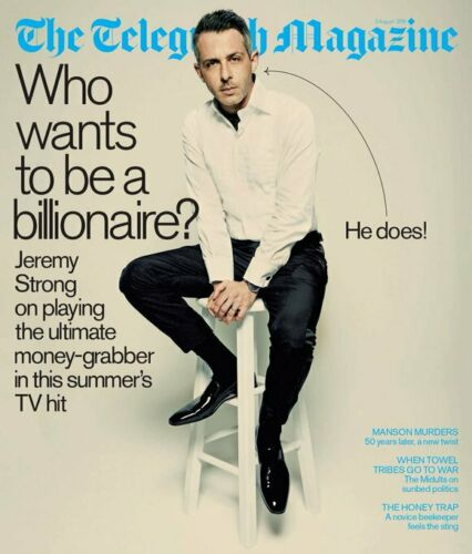 JEREMY STRONG SUCCESSION TELEGRAPH MAGAZINE AUGUST 2019 - CHARLES MANSON