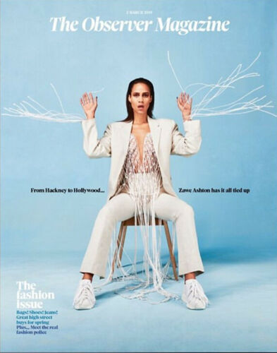 UK Observer Magazine March 2019: ZAWE ASHTON Siri Hustvedt SIMON REEVE