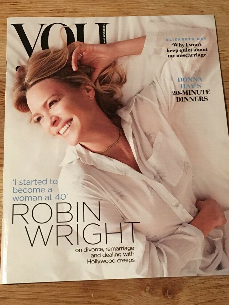 UK YOU Magazine FEB 2019: ROBIN WRIGHT PENN COVER AND FEATURE House of Cards