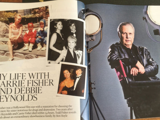UK Times Magazine JUNE 2018: TODD FISHER on CARRIE FISHER & DEBBIE REYNOLDS