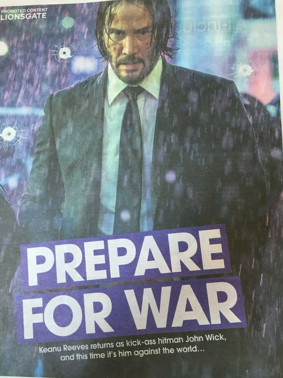 The Sun Supplement May 2019: JOHN WICK CHAPTER 3 (KEANU REEVES) COVER FEATURE