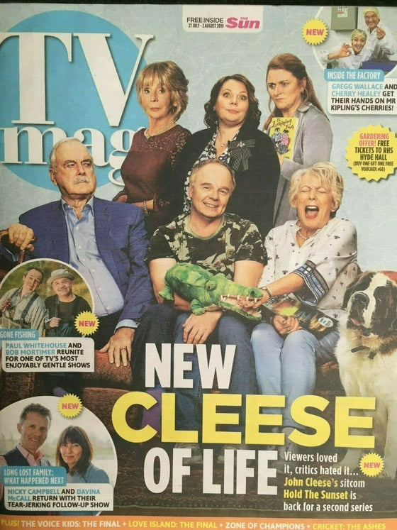 UK SUN TV Magazine 7/2019: JOANNA SCANLAN John Cleese CHRIS EVANS Nicky Campbell