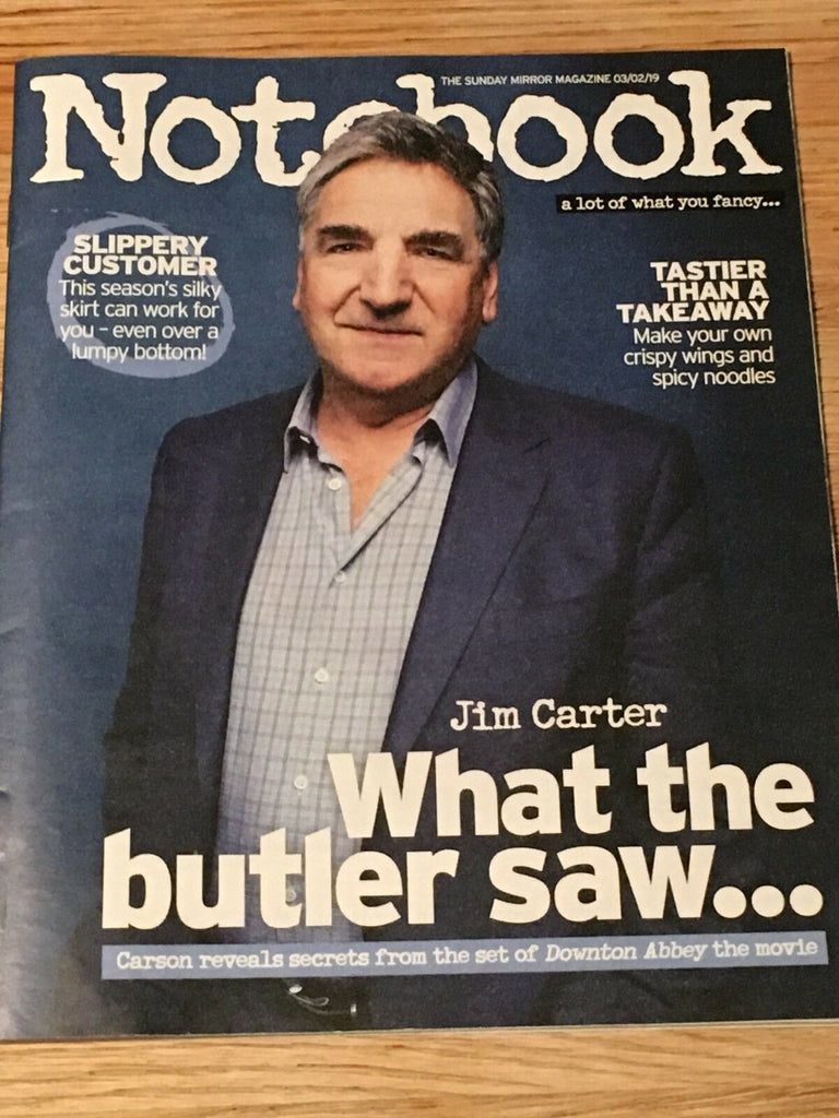 UK Notebook Magazine Feb 2019: Downton Abbey JIM CARTER - Adam Levine (Maroon 5)