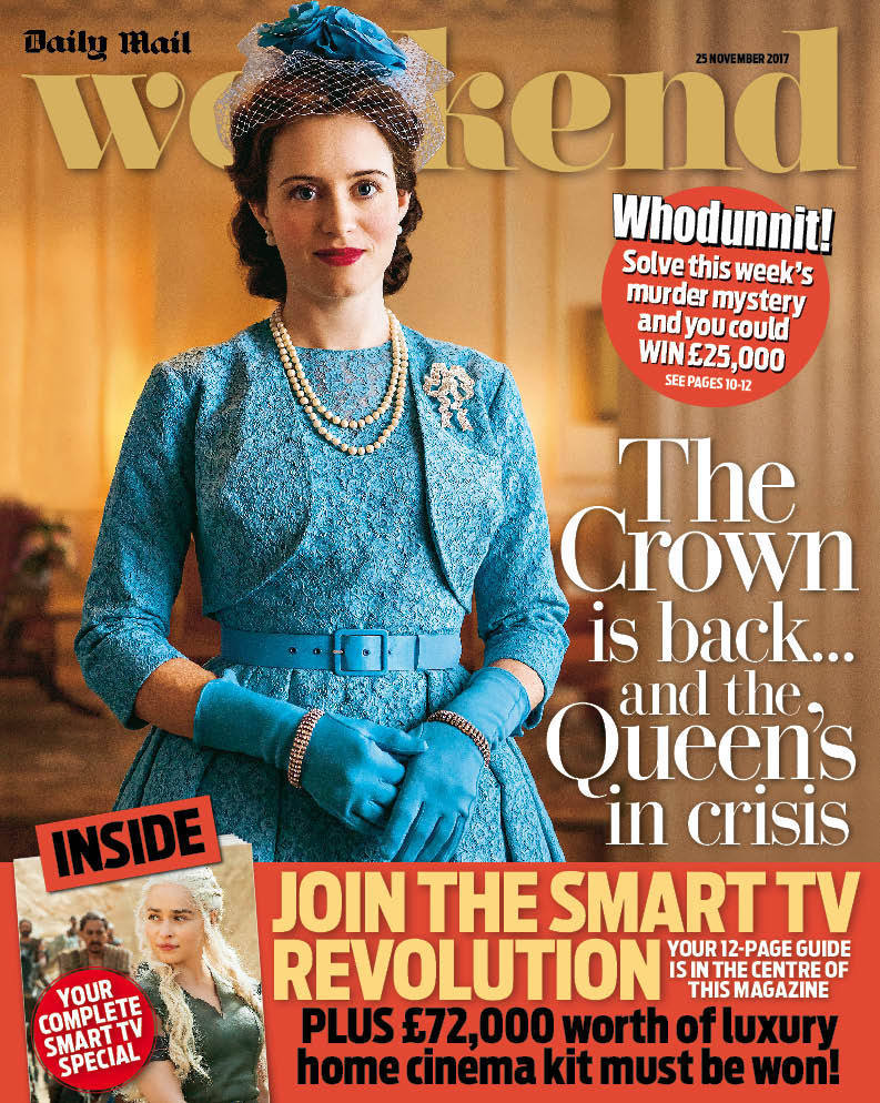 Weekend Magazine November 2017 The Crown Claire Foy Kelly LeBrock Aidan Turner