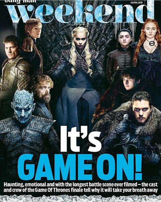 UK WEEKEND magazine April 2019: Game of Thrones cover & feature - Lena Headey