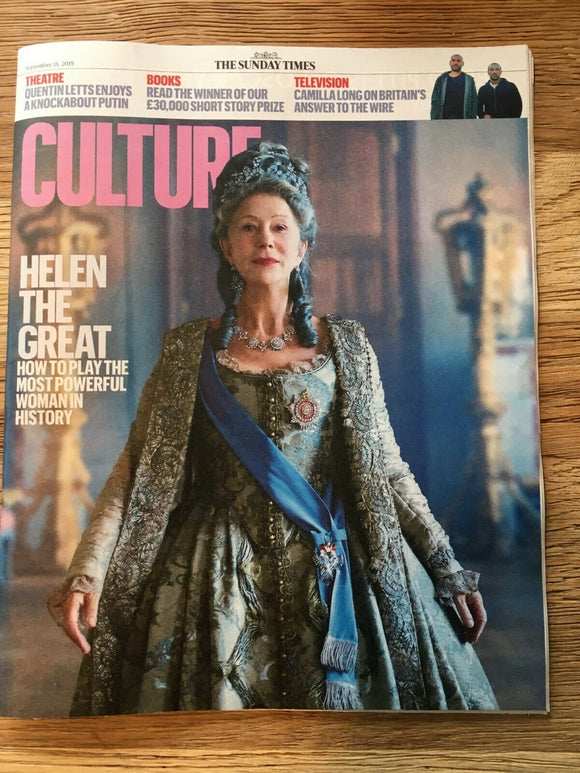 UK CULTURE Mag September 2019: HELEN MIRREN Catherine The Great JESSIE BURTON