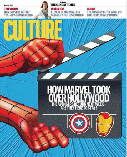 UK CULTURE magazine April 2019: MARVEL - The Avengers: Endgame Cover & Feature