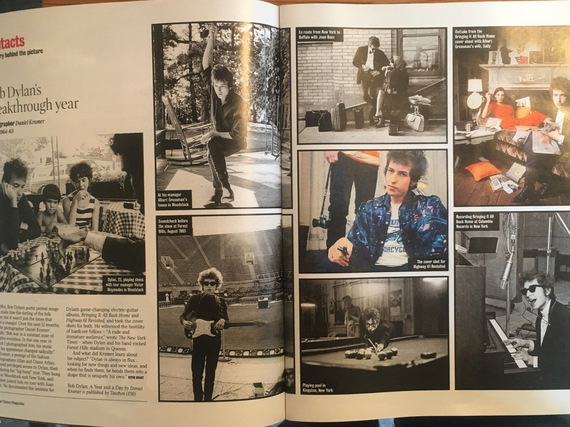 UK Times Magazine Aug 2018: Bob Dylan - His Breakthrough Year - David Mitchell