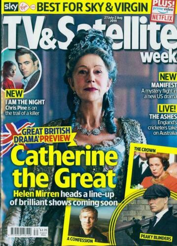 TV & SATELLITE Magazine July 2019: HELEN MIRREN Robert Carlyle CHRIS PINE Evans