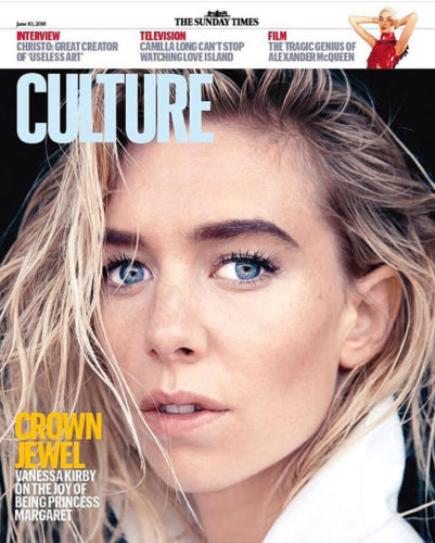 UK Culture magazine June 2018 The Crown VANESSA KIRBY Aidan Turner Orlando Bloom